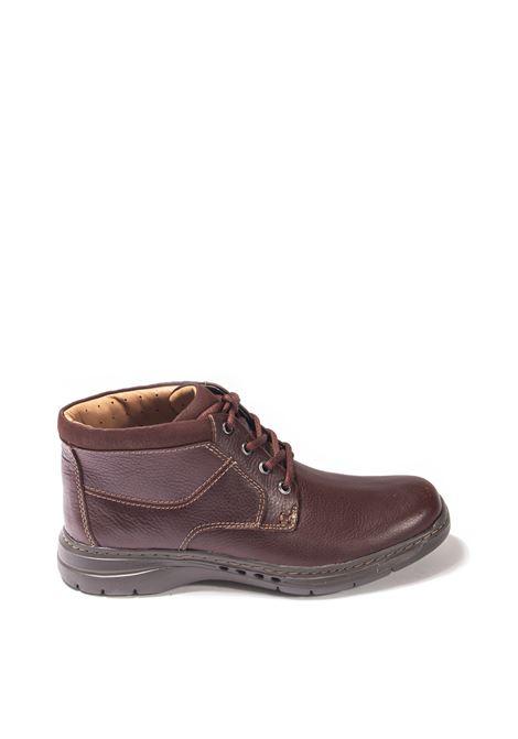 Brown brawley up ankle boot CLARKS ENGLAND | Anfibi | 151783UN BRAWLEY UP-MAHOGAN