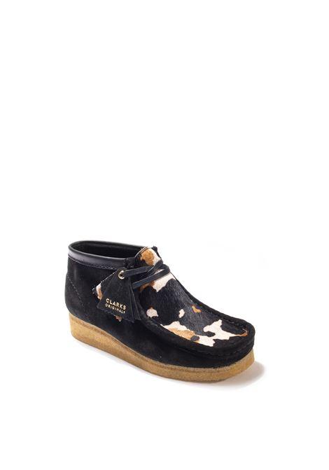 Polacchino wallabee boot multicolor CLARKS ORIGINAL   Stringate   162985WALLABEE-COW/PINK
