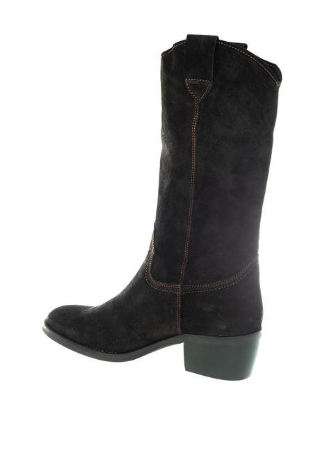 Stivaletto vintage nero tacco 50 DAKOTA BOOTS | Stivali | DKT49/2OIL-NERO