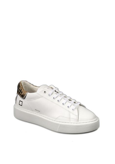 Sneaker sfera calf bianco multi D.A.T.E. | Sneakers | SFERACALF-WHITE/LEOPARD