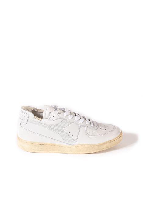 Sneaker mi basket pelle bianco/grigio DIADORA HERITAGE | Sneakers | 176282MI BASKET-C8450
