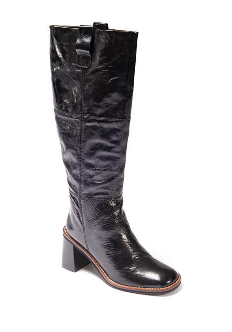 Stivale cucito rama nero  ELVIO ZANON | Stivali | 9001RAMA-NERO
