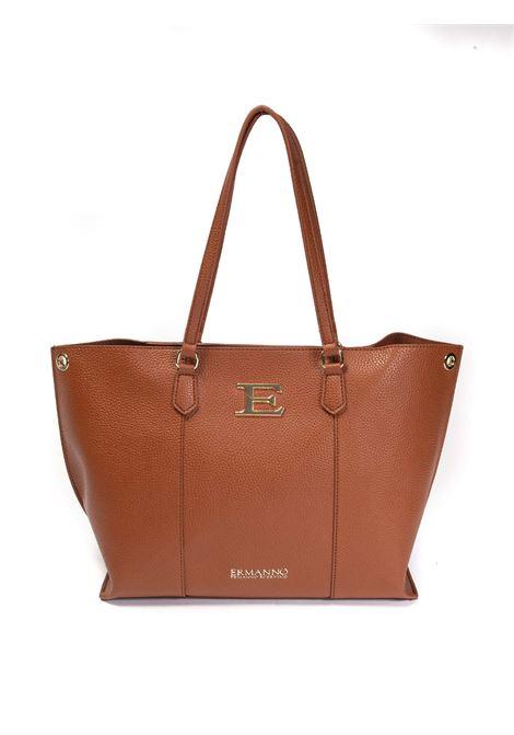 Shopping eba logo cuoio ERMANNO SCERVINO | Borse a spalla | 223EBA-2244