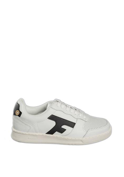 Sneaker hazel bianco/nero FAGUO | Sneakers | CG0301PELLE-WHI35