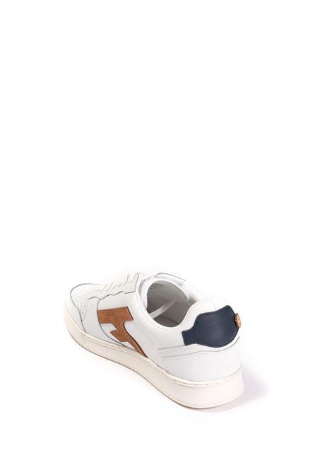 Sneaker hazel bianco/cuoio FAGUO | Sneakers | CG0302PELLE-WHI47