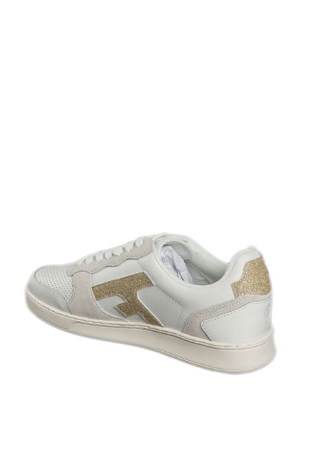 Sneaker hazel bianco/oro FAGUO   Sneakers   CG0303DPELLE/GLT-WHI15