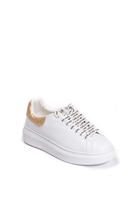Sneaker cocco bianco/oro GAELLE | Sneakers | 2354PELLE-GOLD