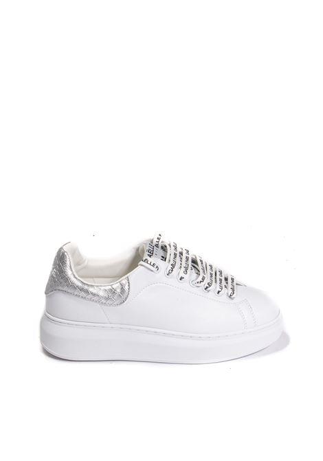 Sneaker cocco bianco/argento GAELLE | Sneakers | 2354PELLE-SILVER