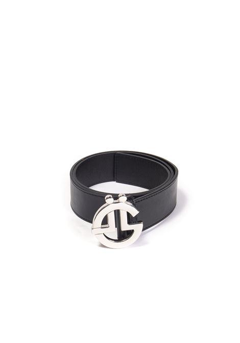 Cintura logo nero/argento GAELLE | Cinture | 2684PELLE-NERO/ARGENTO