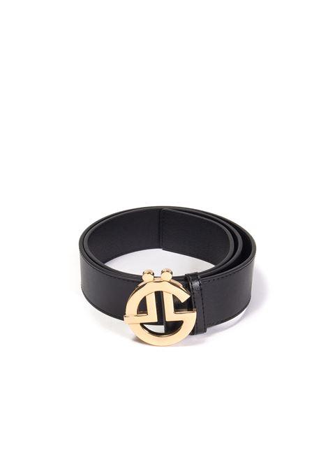 Cintura logo nero/oro GAELLE | Cinture | 2684PELLE-NERO/ORO