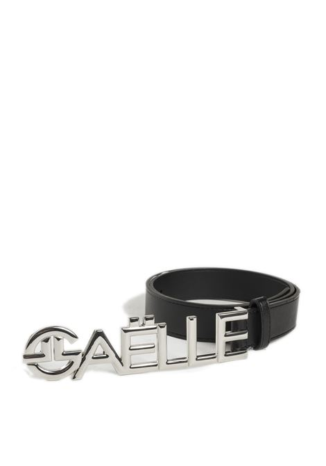 Cintura lettering nero/argento GAELLE | Cinture | 2685PELLE-NERO/ARGENTO