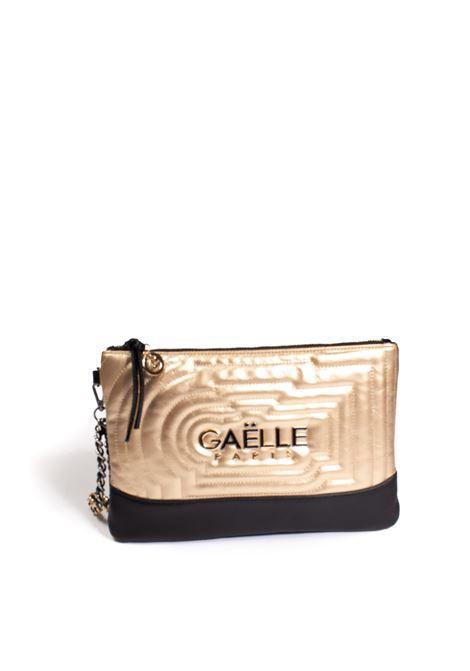 Pochette metal nero/oro GAELLE | Borse mini | 2690PELLE-NERO/ORO