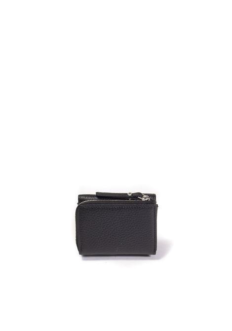 Portafoglio zip grain nero GIANNI CHIARINI | Portafogli | 5065GRAIN-001