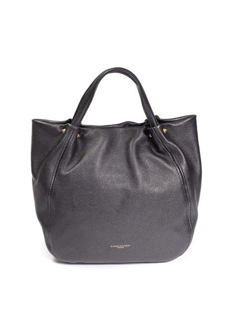 Shopping toulip nero GIANNI CHIARINI | Borse a spalla | 8465TULIP-001
