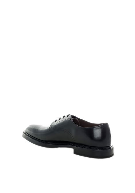 Derby polished nero GREEN GEORGE | Stringate | 6055POLISHED-NERO