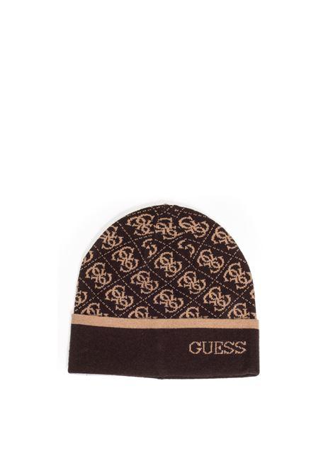 Cappello logo marrone GUESS | Cappelli | AM8863LANA-BRO