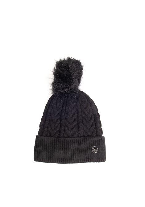 Cappello pon pom nero GUESS | Cappelli | AW8727LANA-BLA
