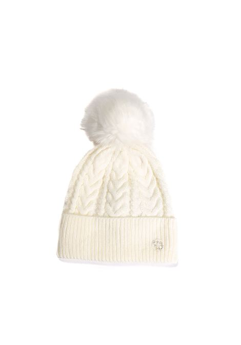 Cappello pon pom bianco GUESS | Cappelli | AW8727LANA-IVO