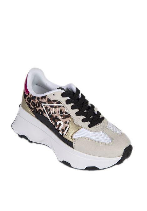 Sneaker caleb multicolor GUESS   Sneakers   FL7CBBCALEBB-LEOPARD
