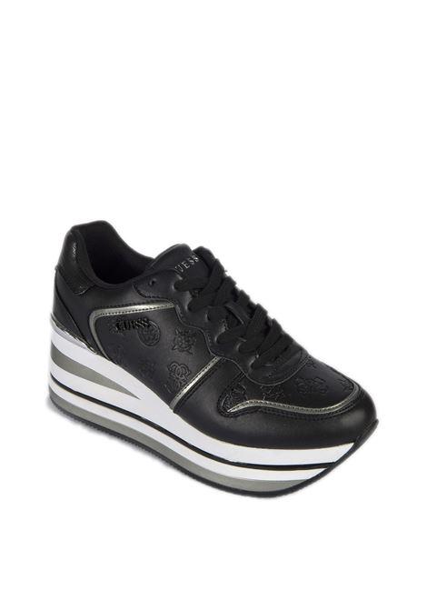 Sneaker hector nero GUESS | Sneakers | FL7HEEKEKTORE-BLACK/BLACK
