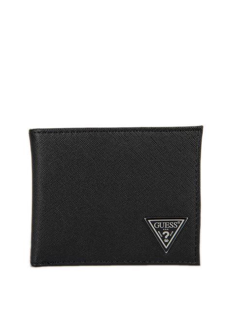 Portafoglio cert coin nero GUESS | Portafogli | SMCERTLEA20-BLA