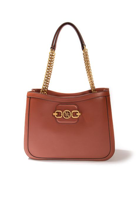 Shopping hensely cuoio GUESS | Borse a spalla | VB8113230HENSELY-WKY