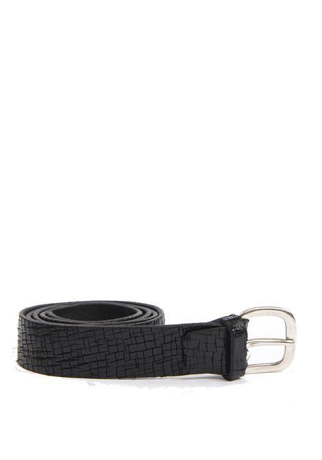 Cintura craquelé nero ITALIAN BELTS   Cinture   528/35VIT-NERO