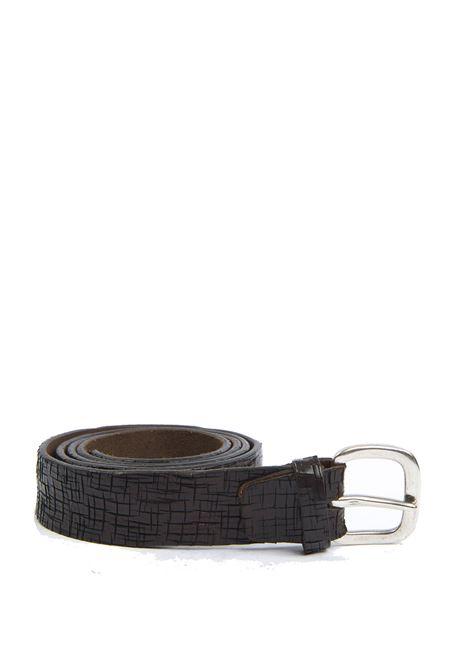 Cintura craquelé moro ITALIAN BELTS   Cinture   528/35VIT-T.MORO