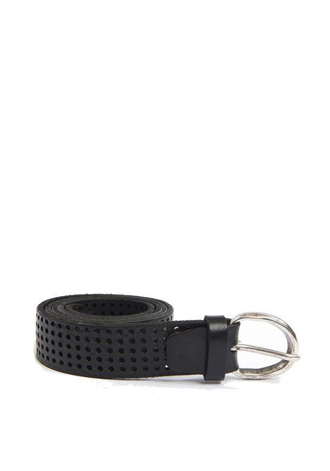 Cintura forata nero ITALIAN BELTS   Cinture   605/30VIT-NERO