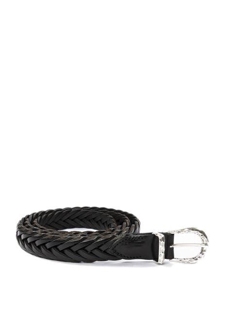Cintura treccia nero ITALIAN BELTS   Cinture   TRECCIA/25VIT-NERO