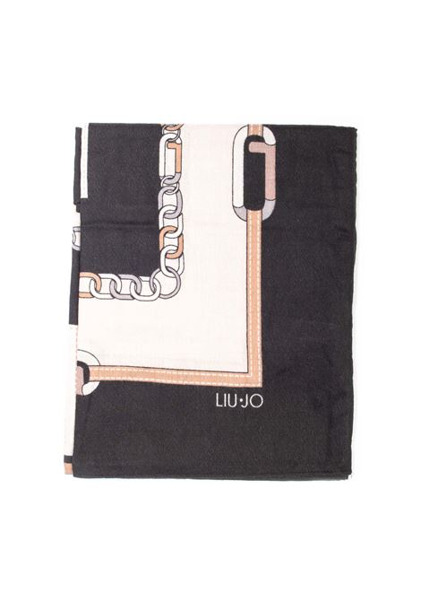 Foulard chain nero LIU JO | Foulards | 2F1040T0300CHAIN-22222