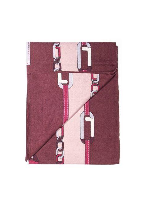 Foulard chain bordeaux LIU JO | Foulards | 2F1040T0300CHAIN-92025