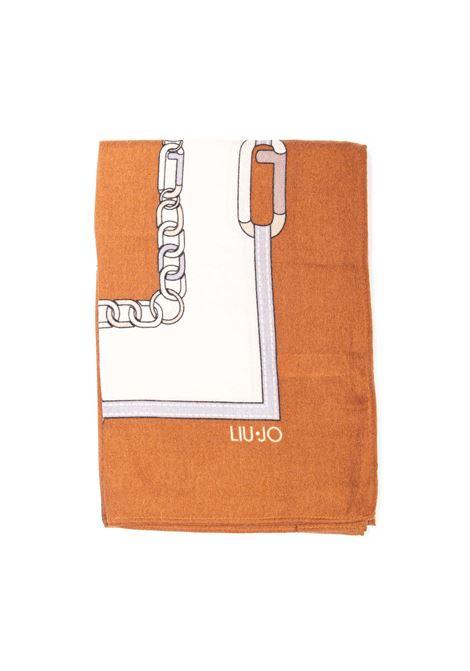 Foulard chain cuoio LIU JO | Foulards | 2F1040T0300CHAIN-X0282