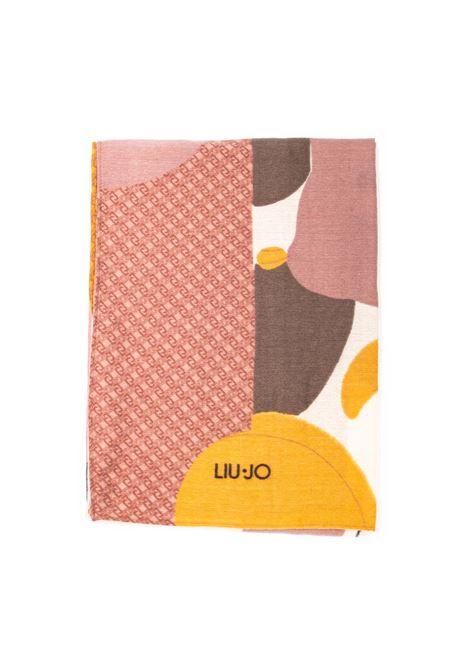 Foulard color block rosa LIU JO | Foulards | 2F1050T0300COLOR BLOCK-00365