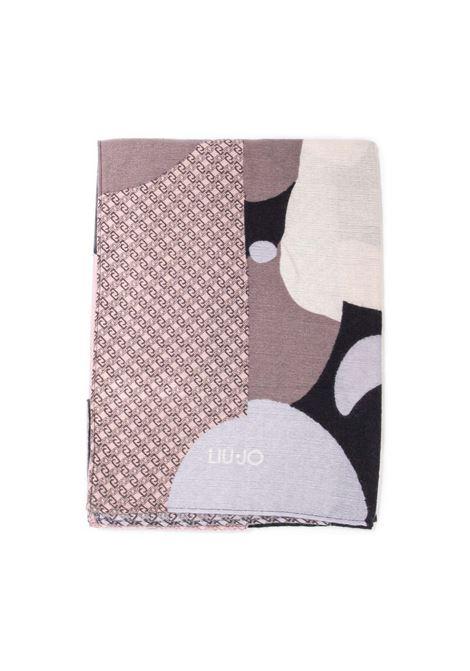 Foulard colo block nero LIU JO | Foulards | 2F1050T0300COLOR BLOCK-22222