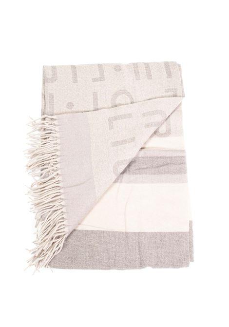 Foulard jacquard bianco LIU JO | Foulards | 3F1053T0300JACQUARD LOGO-22222