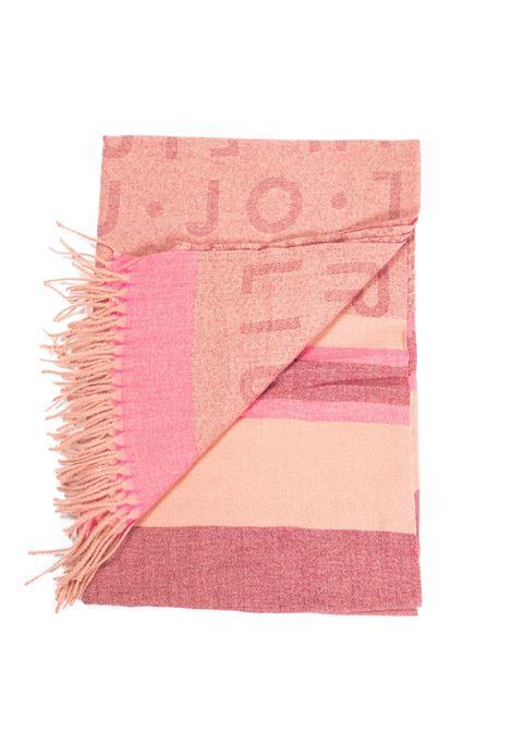 Foulard jacquard rosa LIU JO | Foulards | 3F1053T0300JACQUARD LOGO-X0403