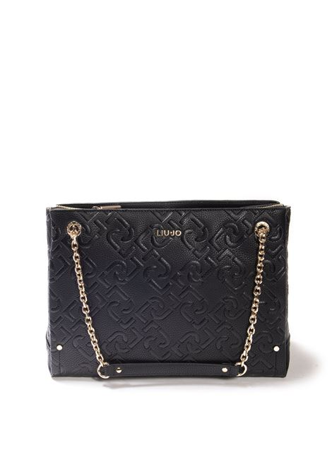 Shopping 3d nero LIU JO | Borse a spalla | AF1046E0538PELLE-22222