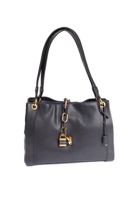 Shopping m regale nero LIU JO | Borse a spalla | NF1045E0031PELLE-22222