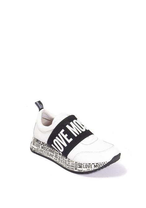 Sneaker logo bianco LOVE MOSCHINO | Sneakers | 15244VIT-100