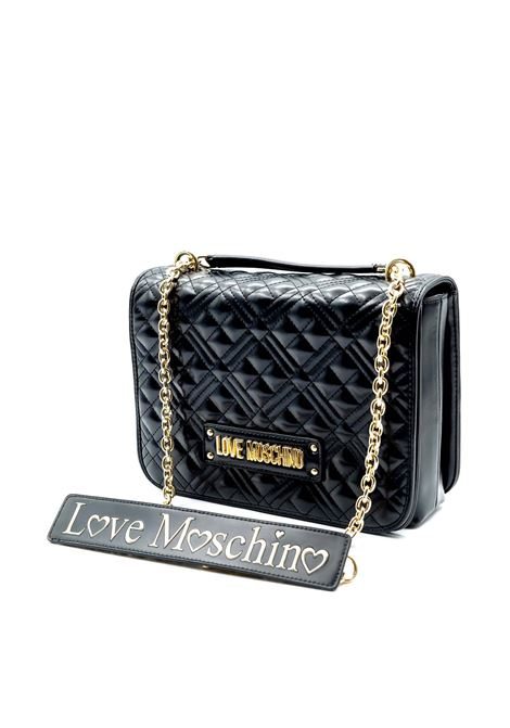 Tracolla g quilted nero LOVE MOSCHINO | Borse a spalla | 4000QUILTED-000
