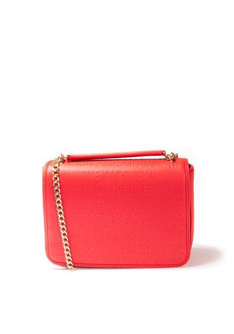 Tracolla m embossed rosso LOVE MOSCHINO | Borse a spalla | 4267EMBOSSED-500