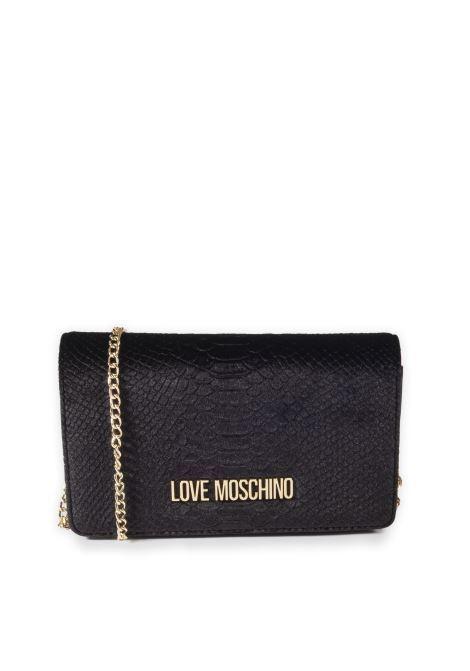Pochette velluto nero LOVE MOSCHINO | Borse mini | 4292VELL-000