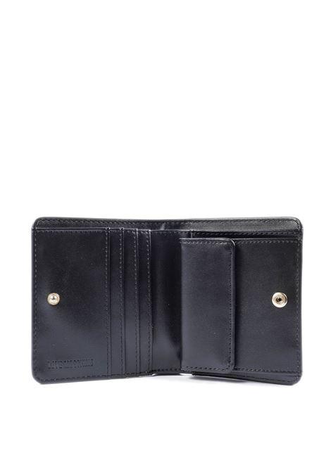 Portafoglio mini con logo oro LOVE MOSCHINO   Portafogli   5562PELLE-901