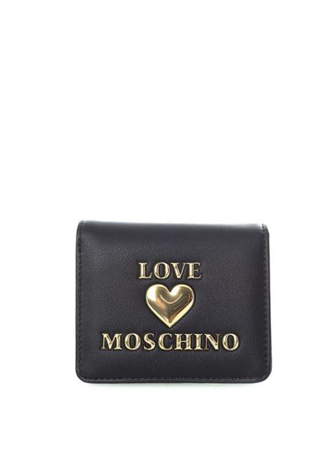 Portafoglio shiny heart nero LOVE MOSCHINO   Portafogli   R5614PELLE-000