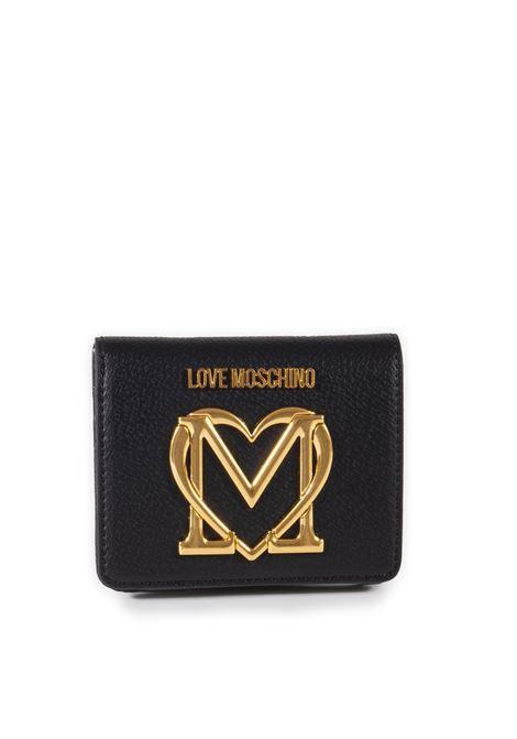 Portafoglio cuore mini nero LOVE MOSCHINO   Portafogli   5648PU-000