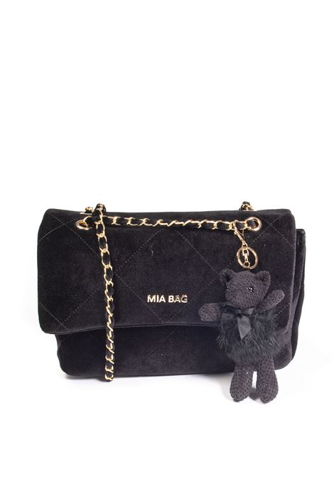 Tracolla m velvet nero MIA BAG | Borse a spalla | 21300VELVET-NERO