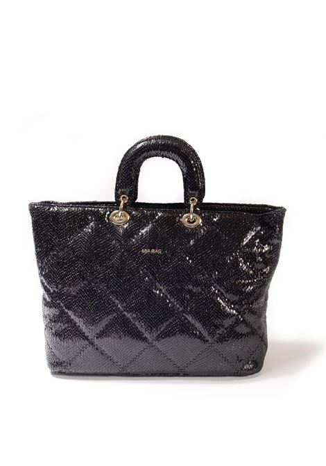 Shopping matelassé nero MIA BAG | Borse a mano | 21306PYTHON-NERO