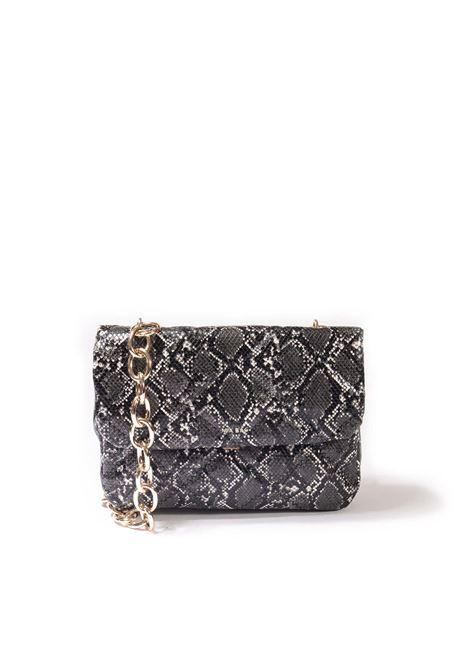 Tracolla chain grigio MIA BAG | Borse a spalla | 21307PYTHON-ROCCIA