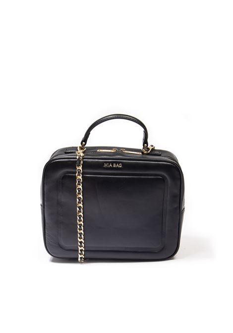 Bauletto plain nero MIA BAG | Borse a spalla | 21330PELLE-NERO